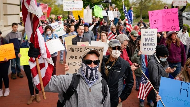 coronavirus updates in us and canada trump tweets support for anti lockdown protests ontario reports highest new case in canada