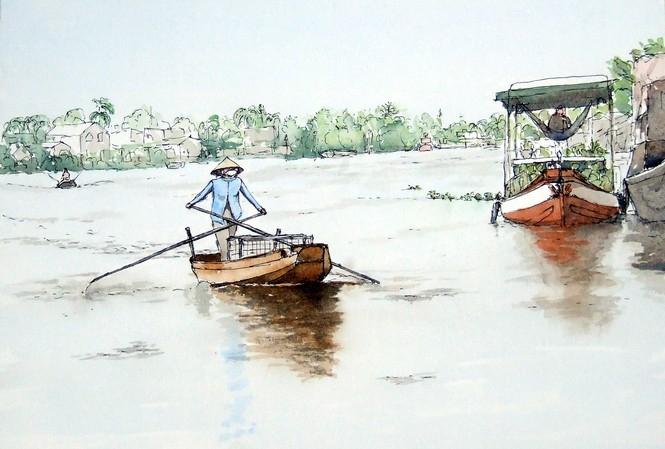 a french tourist draws vietnam unique beauties his way