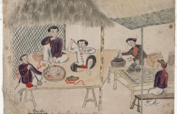 rare sketches of rural life in northern vietnam 20th century