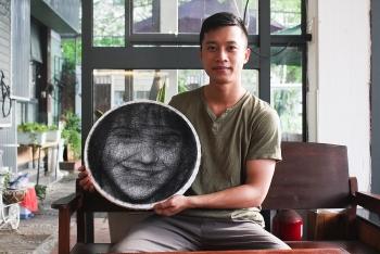 Vietnamese artist portraits global artists by string art