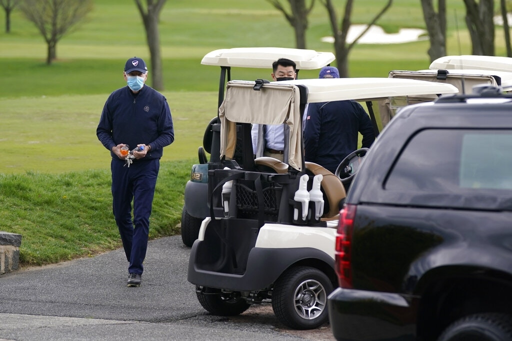 World breaking news today (April 19):  Biden plays golf for 1st time as president