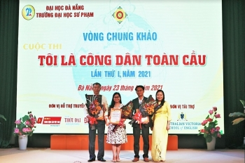 Da Nang University of Education wins first prize at 'I am a global citizen' contest