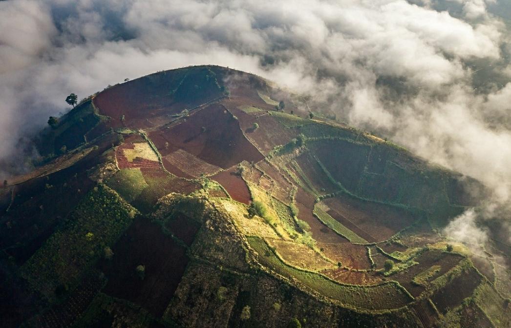 wild beauty of chu dang ya volcano