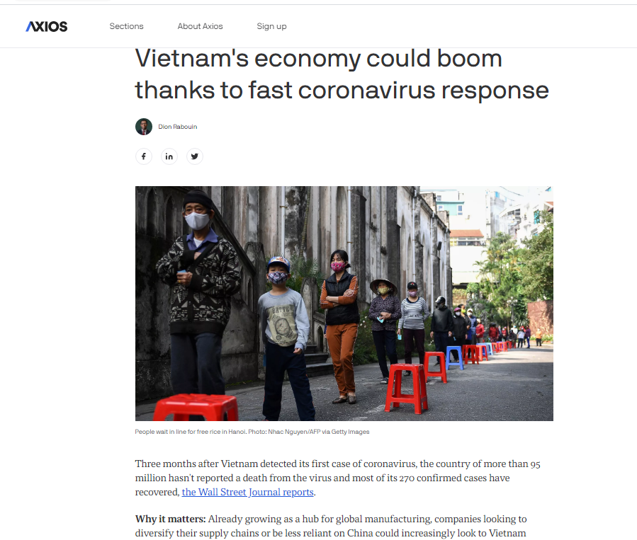 american news outlet names vietnam one of the countries squashing coronavirus curve