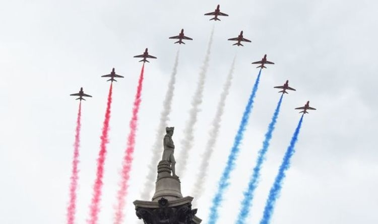 world news today raf jets to roar over uk to mark 75th anniversary 2020 nfl rescheduled