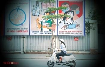 artful masion in hanoi with covid 19 themed propoganda graffiti catches attention