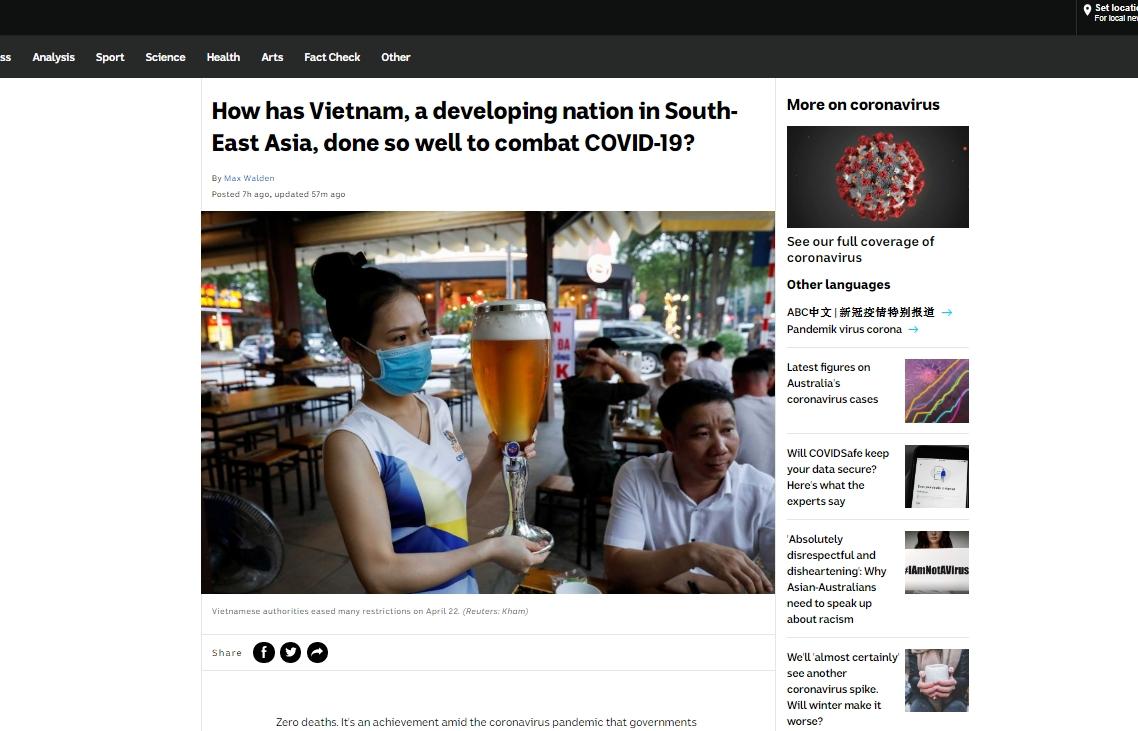 vietnams success in covid 19 fight receives constant praises