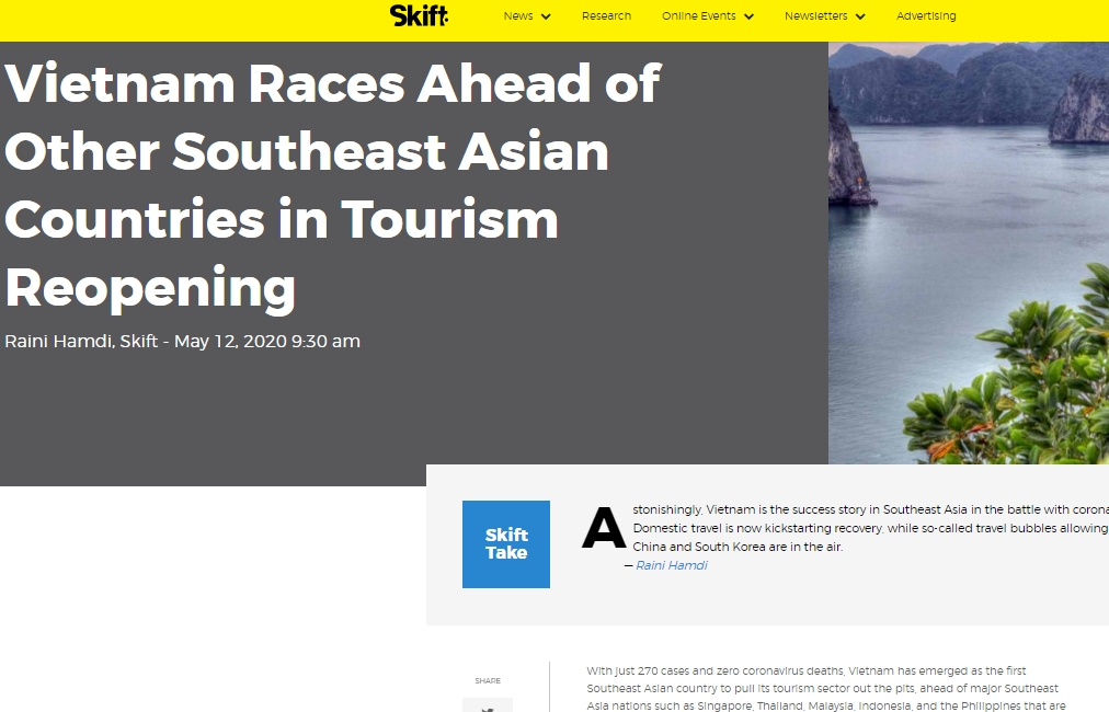 US magazine: Vietnam races ahead of other ASEAN countries in tourism reopening