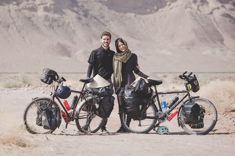 newly wedded couple cycles pass 18 countries to raise fund