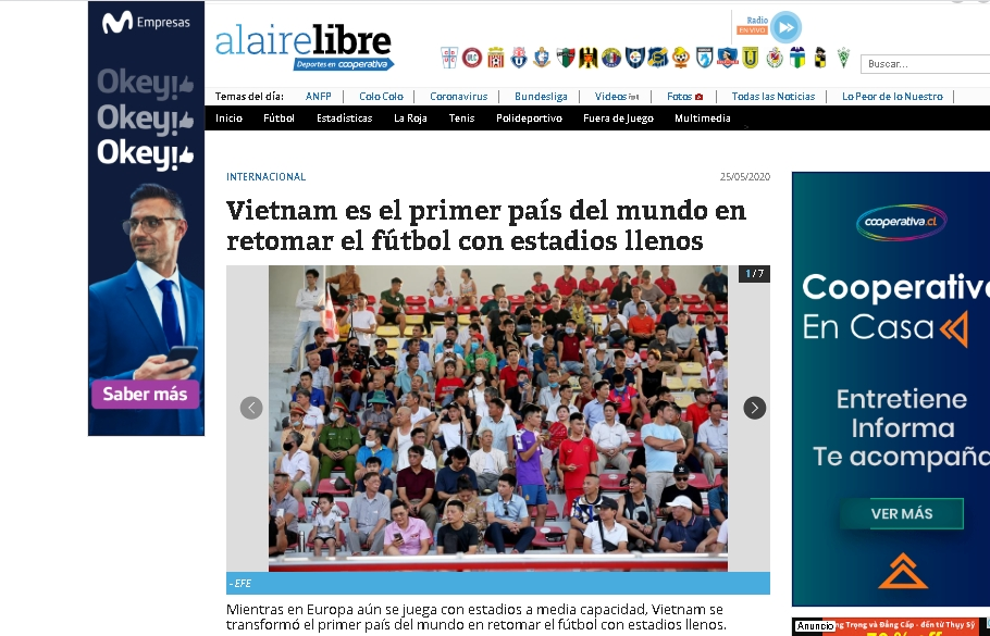 global press lauded vietnamese football for early return amid covid 19 pandemic