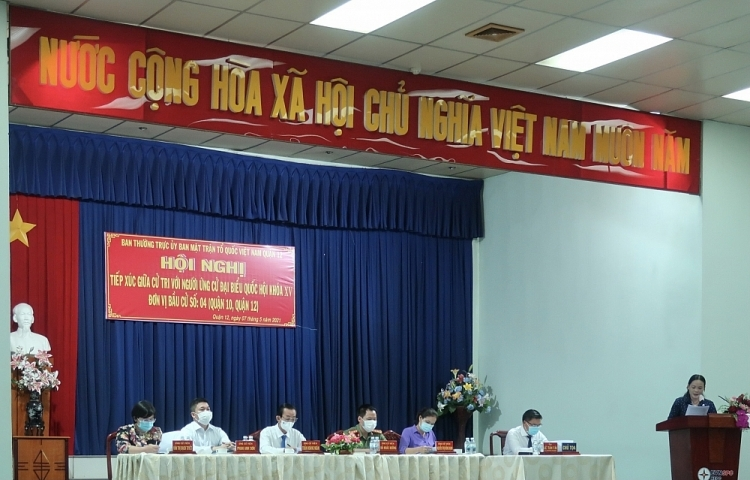 Voters highly agree with action plan of 15th NA candidates  in HCMC's constituency No. 4