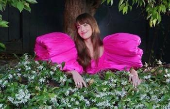 dakota johnson makes fashion statement with made in vietnam costume
