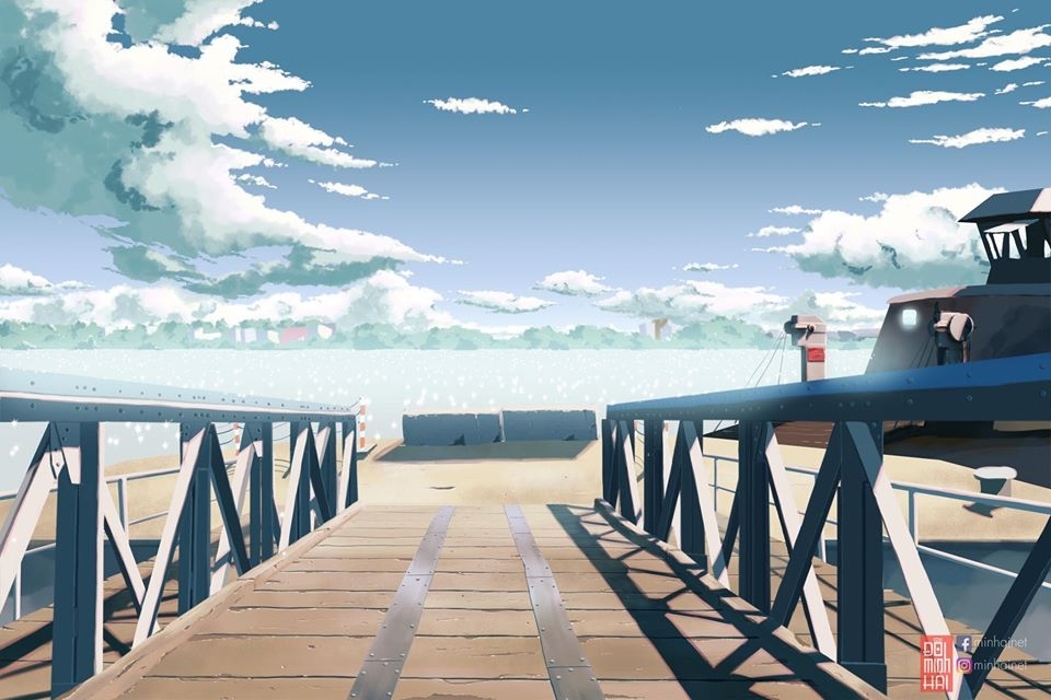 vietnamese students impressive sketches of hometown in anime style