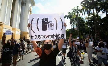 world news today black boys death sparks racism protest in brazil