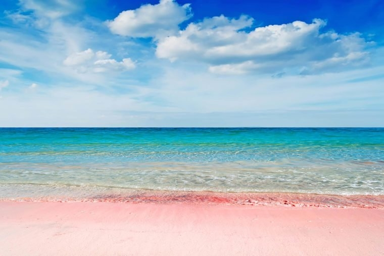 peachy pink sand beach a sense of romance during hot summer days