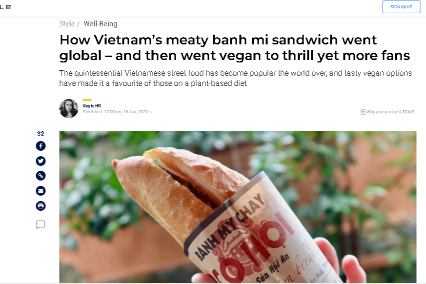 hong kong newspaper explains how vietnamese banh mi becomes a global favorite