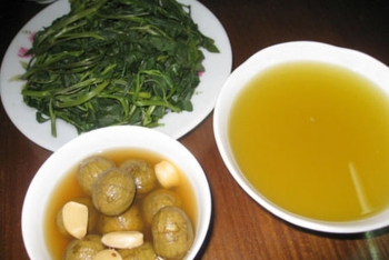 Boiled morning glory, the quintessence of Vietnamese cuisine