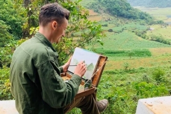 an american artist in great love with vietnams moutainous areas