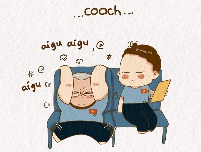 Cute drawings of coach Park Hang Seo garners attention