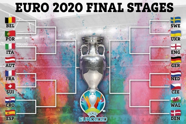 EURO 2020 Round of 16: Full fixtures, match schedule, kick-off time