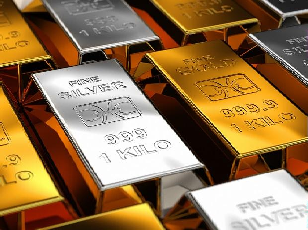 Gold prices on Tuesday fell to Rs 48,100 from Rs 48, 320 per 10 gram while silver climbed to Rs 49,600 from Rs 48,510 per kilogram