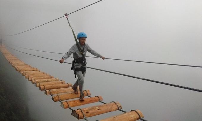 Thrilling newly-opened suspension bridge in Sapa