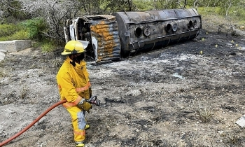 7 fuel stealers burnt to death as gasoline truck explodes in colombia