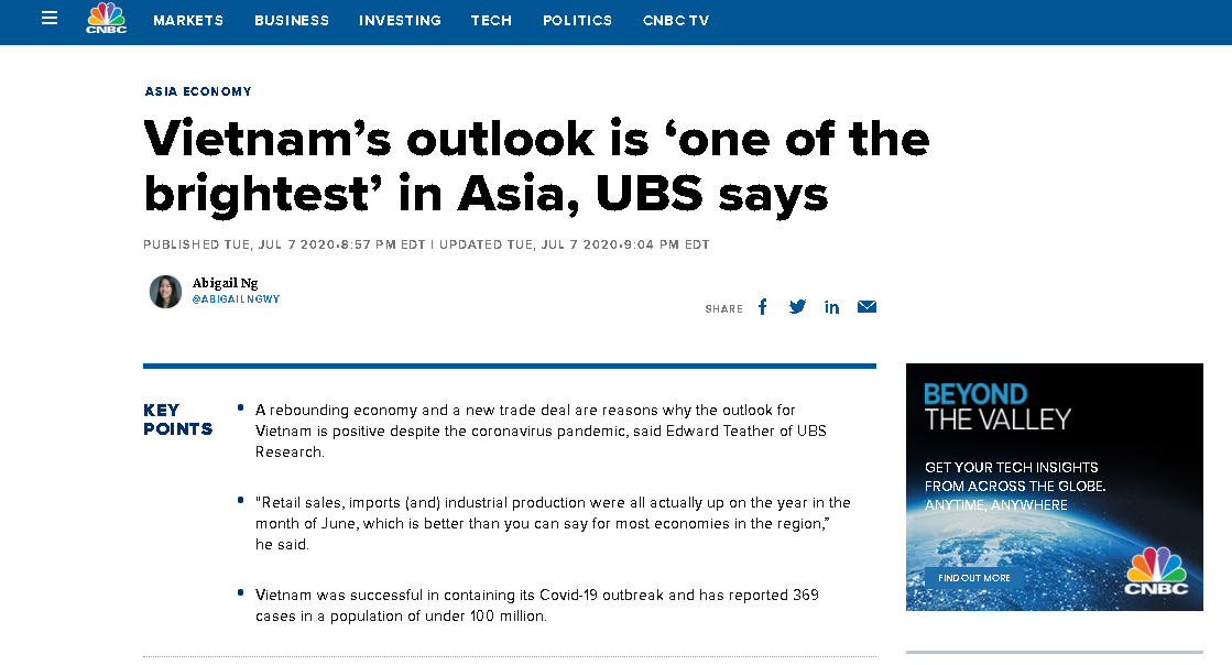 vietnams economic outlook is hailed one of the brightest in asia