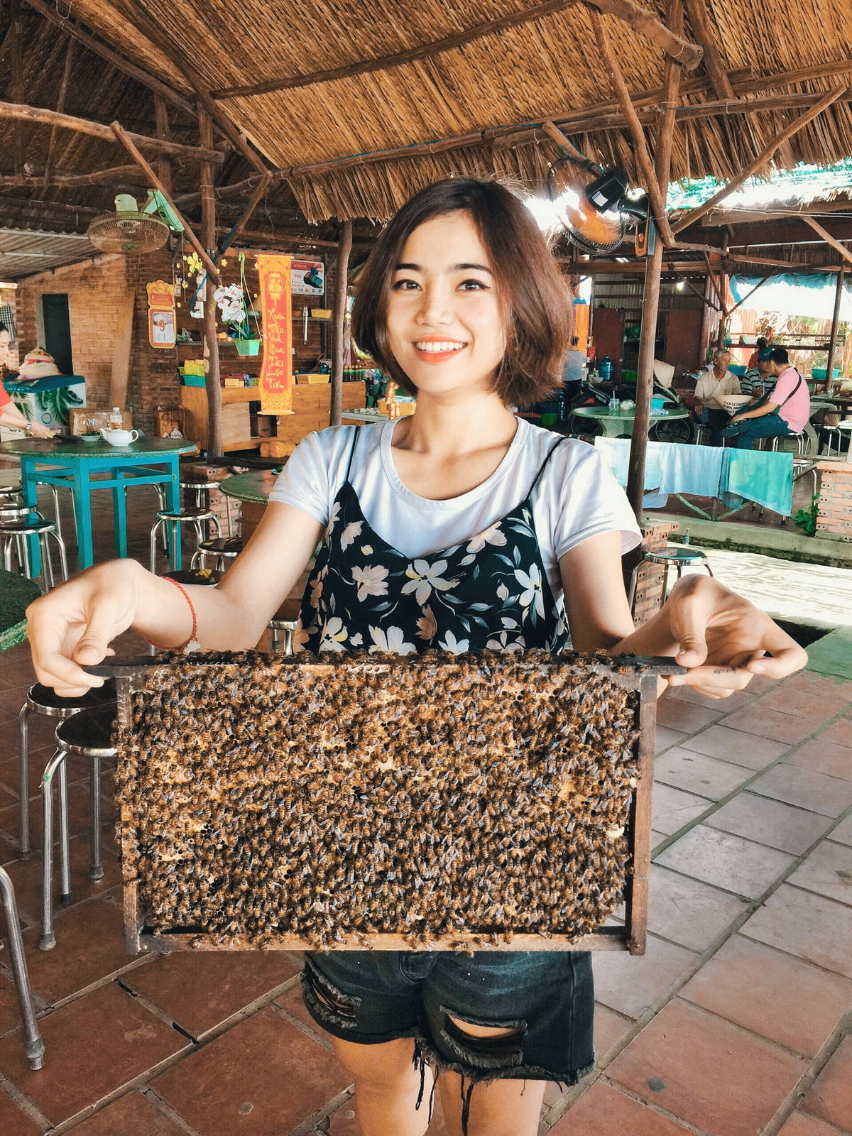 Diep at a honey-making facility in ben tre