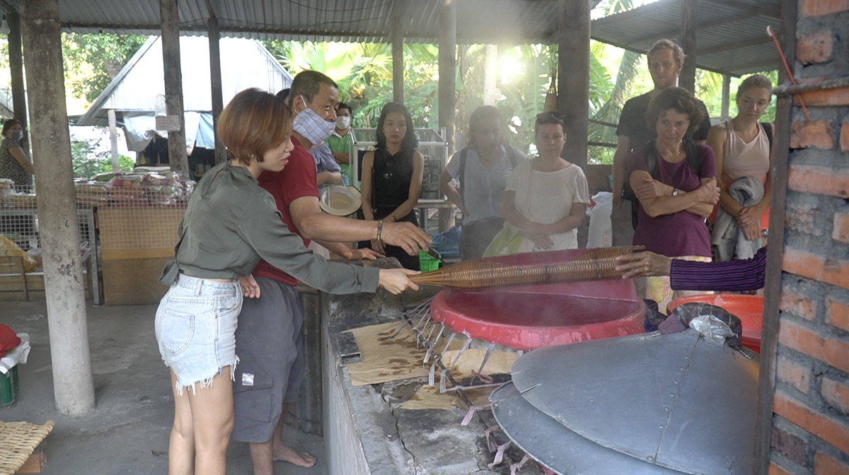 Visitors can experience firsthand in making local foods