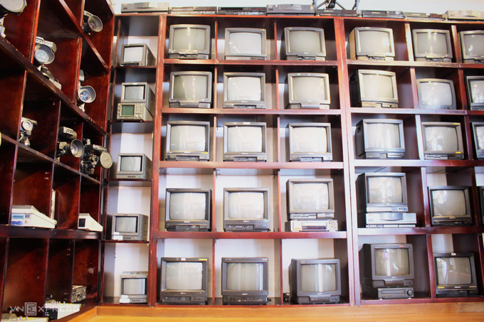 peculiar collection of used tvs and cameras in southern vietnam