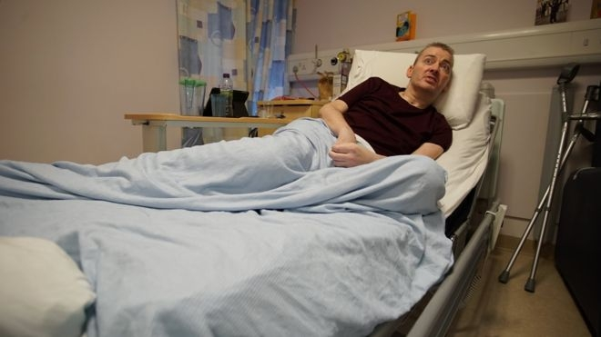 Stephen Cameron is recovering in the University Hospital Wishaw near Glasgow