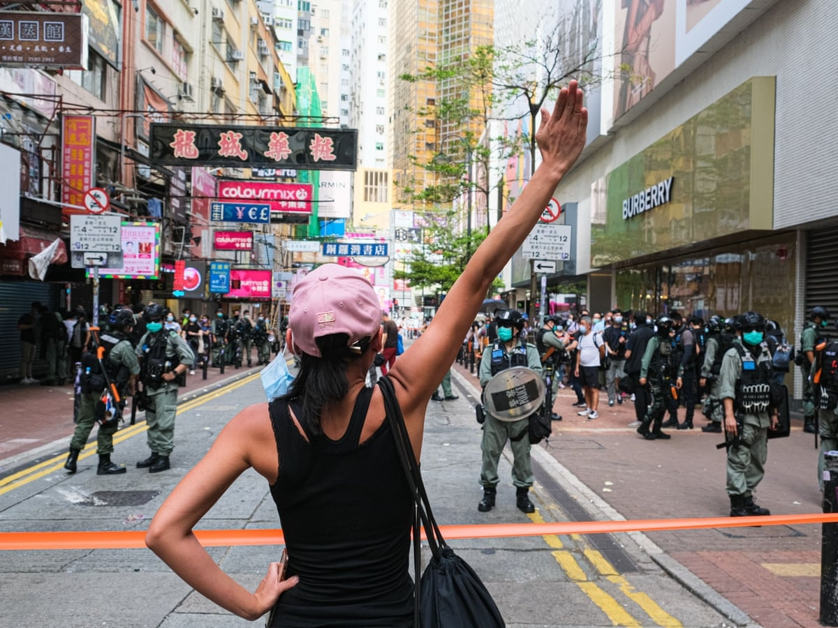 world breaking news today july 30 four hong kong student activists arrested under new security law