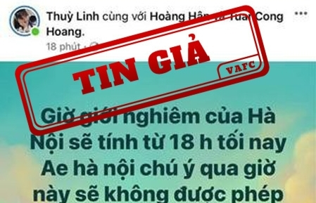 Hanoi Confirms 'Night Curfew Order' is Fake News