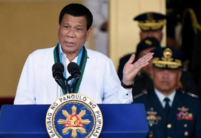 President Rodrigo Duterte on Friday suggested using gasoline as a disinfectant for protective face masks