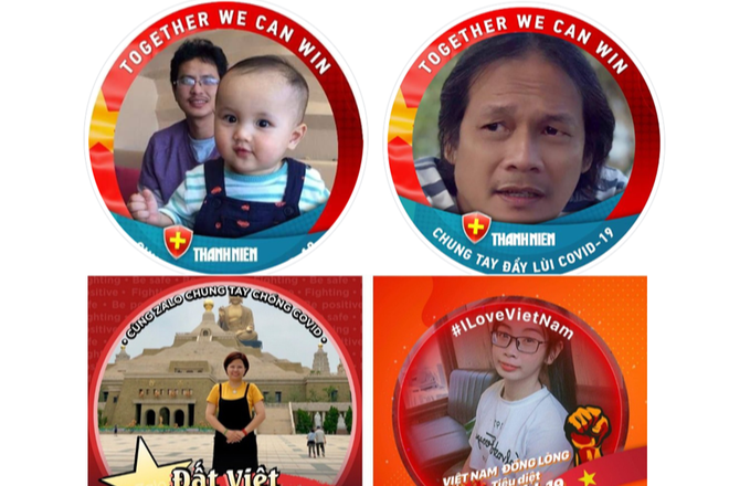 Vietnamese netizens change profile pictures to cheer the nation on in COVID-19 fight