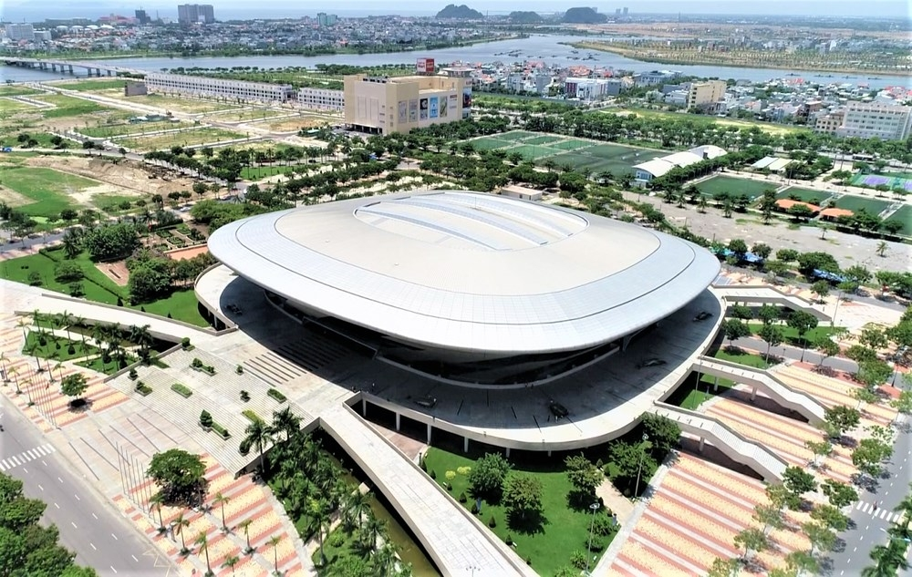 Bird-eye view of tien son sports palace