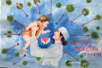 artful propaganda paintings to cheer covid 19 frontline heroes on