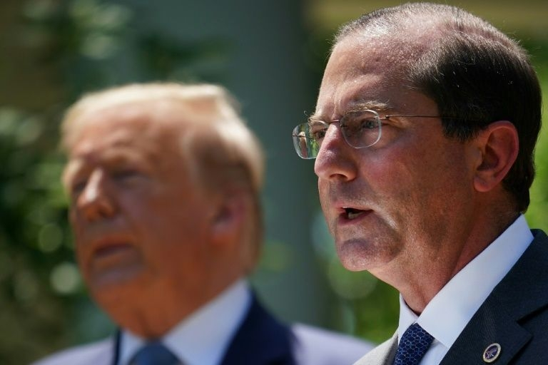 U.S. Secretary of Health and Human Services Alex Azar will visit Taiwan in coming days