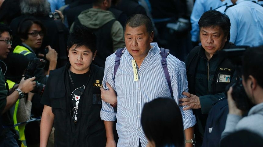 Jimmy Lai says Lai was arrested Monday morning under the city's national security law