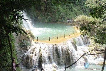 marvelous dai yem waterfall in moc chau plateau