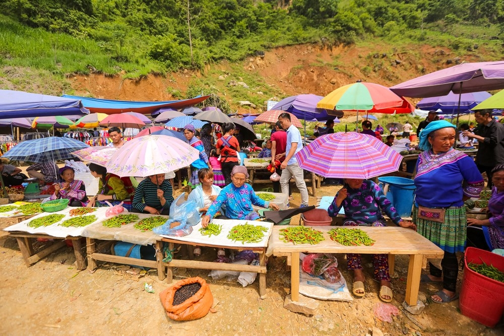 the alluring cultural beauty of moutainous market in lao cai