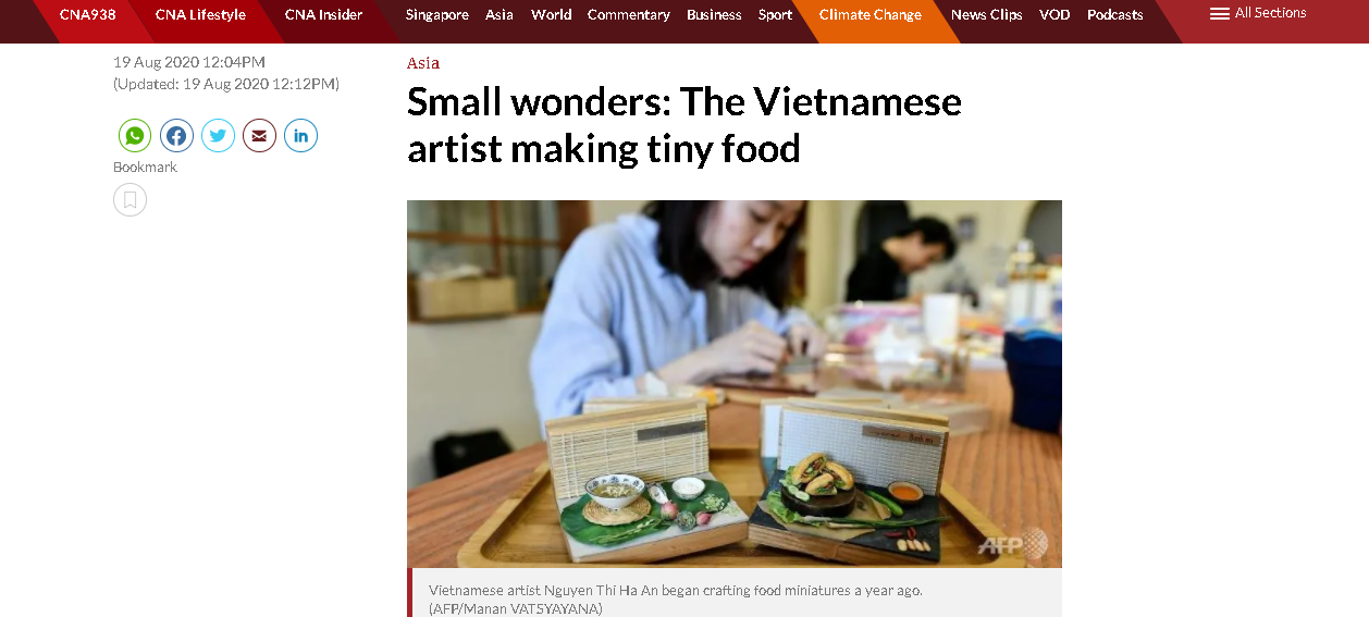 vietnamese miniature food clays garner global attention