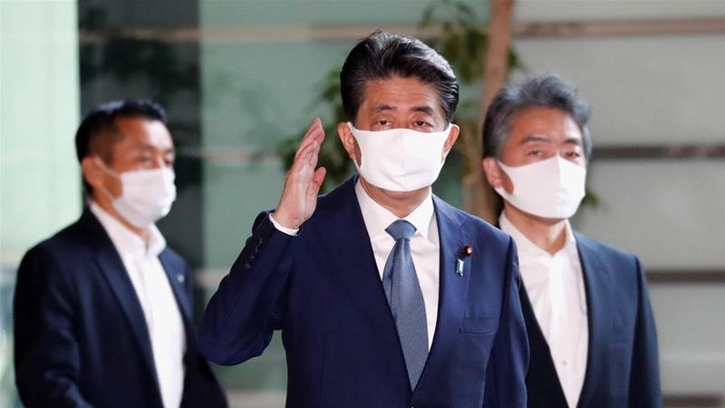 Abe suffered poor health condition recently