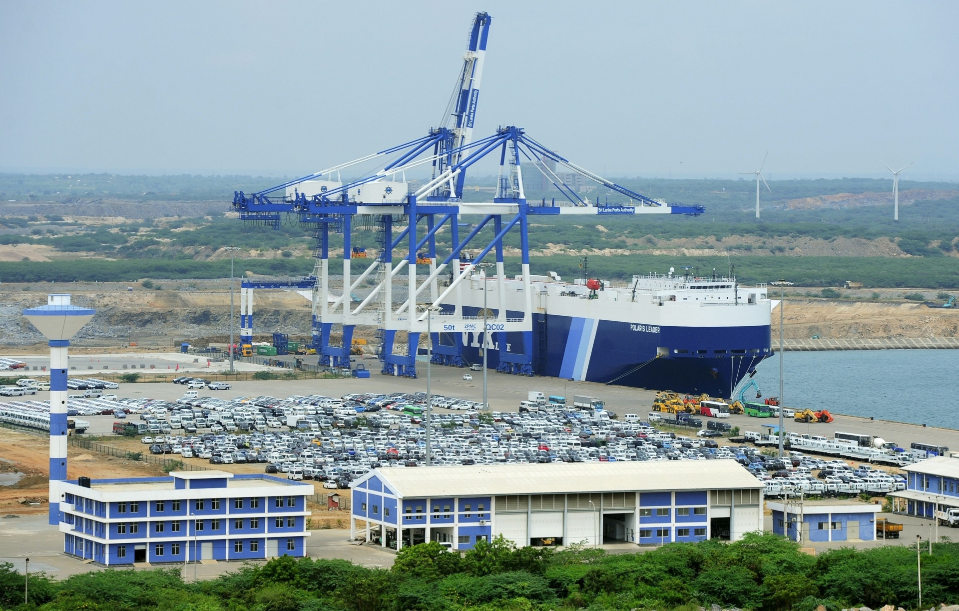 Sri Lanka delegated the authority to operate a deep-water port in the Indian Ocean to the Chinese company in 2017