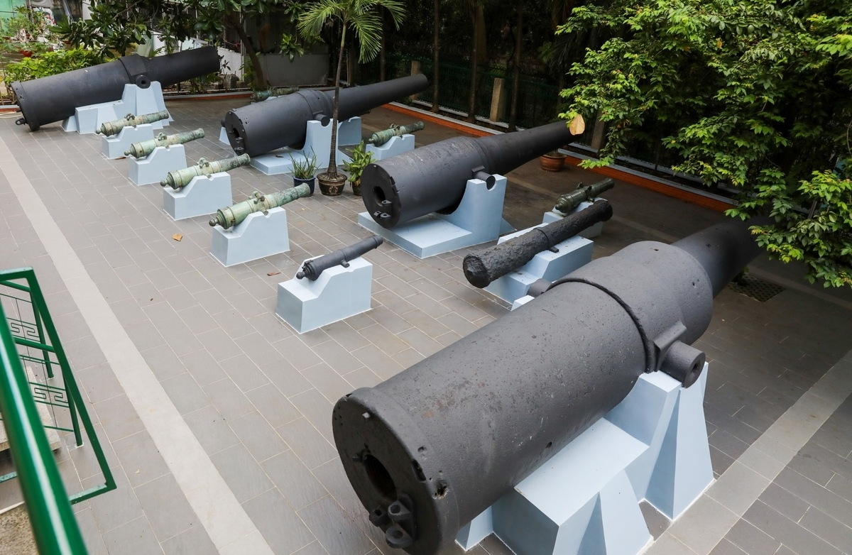 Historical cannon collection in the heart of Saigon
