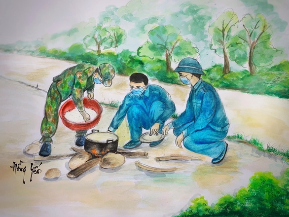 Touching Paintings of Frontline Workers in Covid-19 Battle