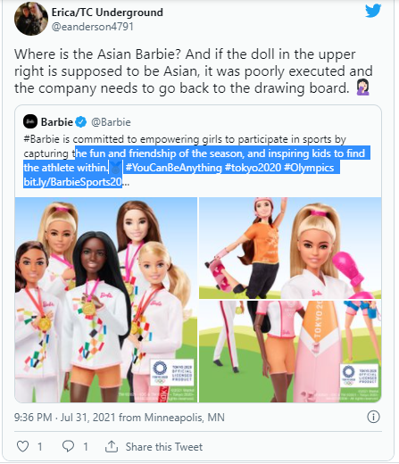 Barbie Criticized for Allegedly Leaving out Asians in 'Inclusive' Tokyo 2020 Collection