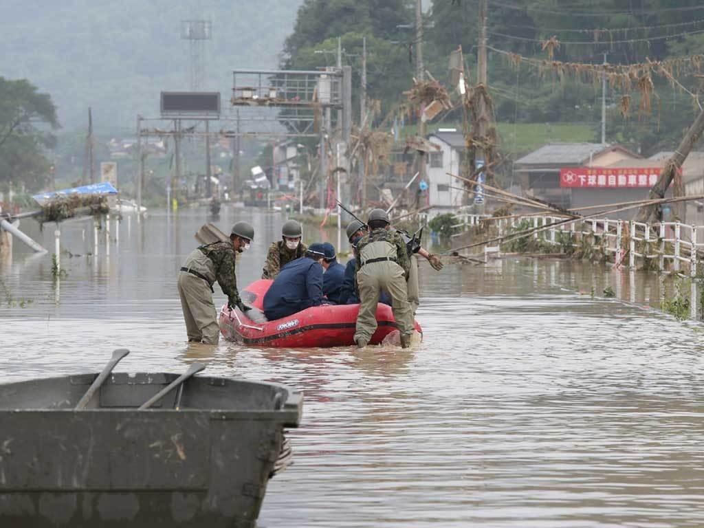 Million Urged to Seek Shelter as Floods and Landslides Hit Japan