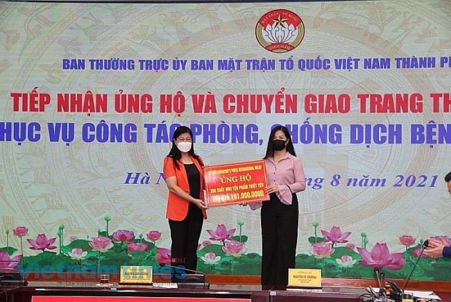 Organizations, Individuals Support Hanoi in Covid-19 Fight